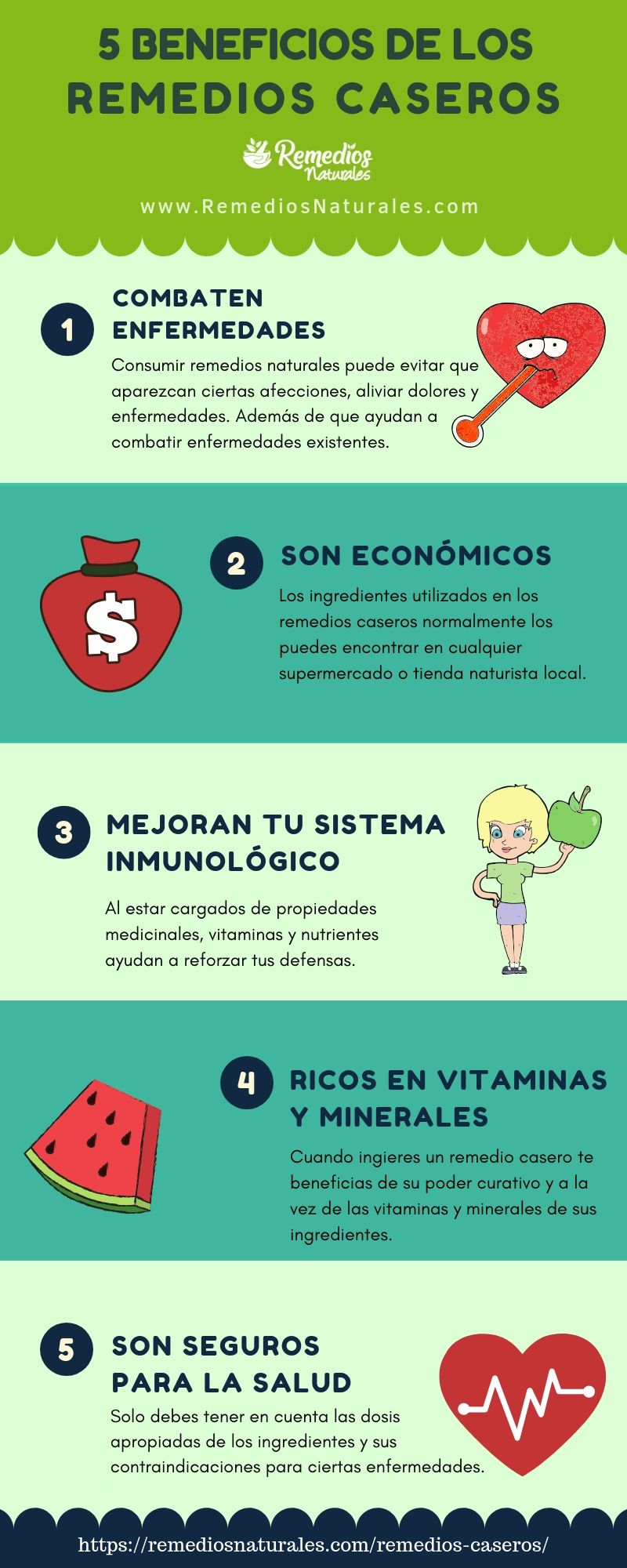 5 BENEFICIOS DE LOS REMEDIOS CASEROS